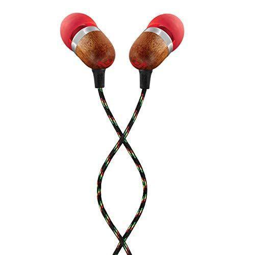 """<p><strong>House of Marley</strong></p><p>amazon.com</p><p><strong>$18.57</strong></p><p><a href=""""https://www.amazon.com/dp/B00LFPIKCY?tag=syn-yahoo-20&ascsubtag=%5Bartid%7C2089.g.958%5Bsrc%7Cyahoo-us"""" rel=""""nofollow noopener"""" target=""""_blank"""" data-ylk=""""slk:Shop Now"""" class=""""link rapid-noclick-resp"""">Shop Now</a></p><p><strong>Key Features</strong><br></p><p>• 9-millimeter audio drivers<br>• Inline remote control<br>• Tangle-resistant cable</p><p>The Smile Jamaica wired earphones by House of Marley feature eco-friendly materials that include responsibly sourced wood and recycled aluminum. The use of wood in their construction results in an entertaining sound with enhanced bass delivery.<br><br>A one-button remote control and microphone allow users to snap out of the good vibes and make phone calls. These cheap earbuds are also available in a wide variety of color options.</p>"""