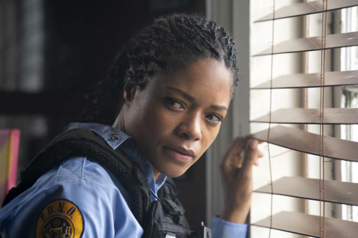 """This image released by Sony Pictures shows Naomie Harris in a scene from """"Black and Blue,"""" in theaters on Oct. 25. (Alan Markfield/Sony Pictures via AP)"""