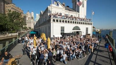 Diageo NA employees gather to celebrate the second annual Diageo CAREs day of service.