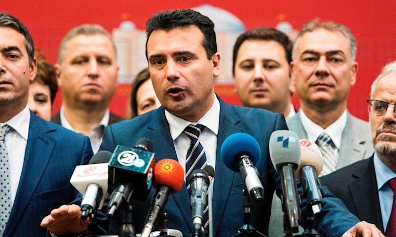 The Macedonian prime minister, Zoran Zaev