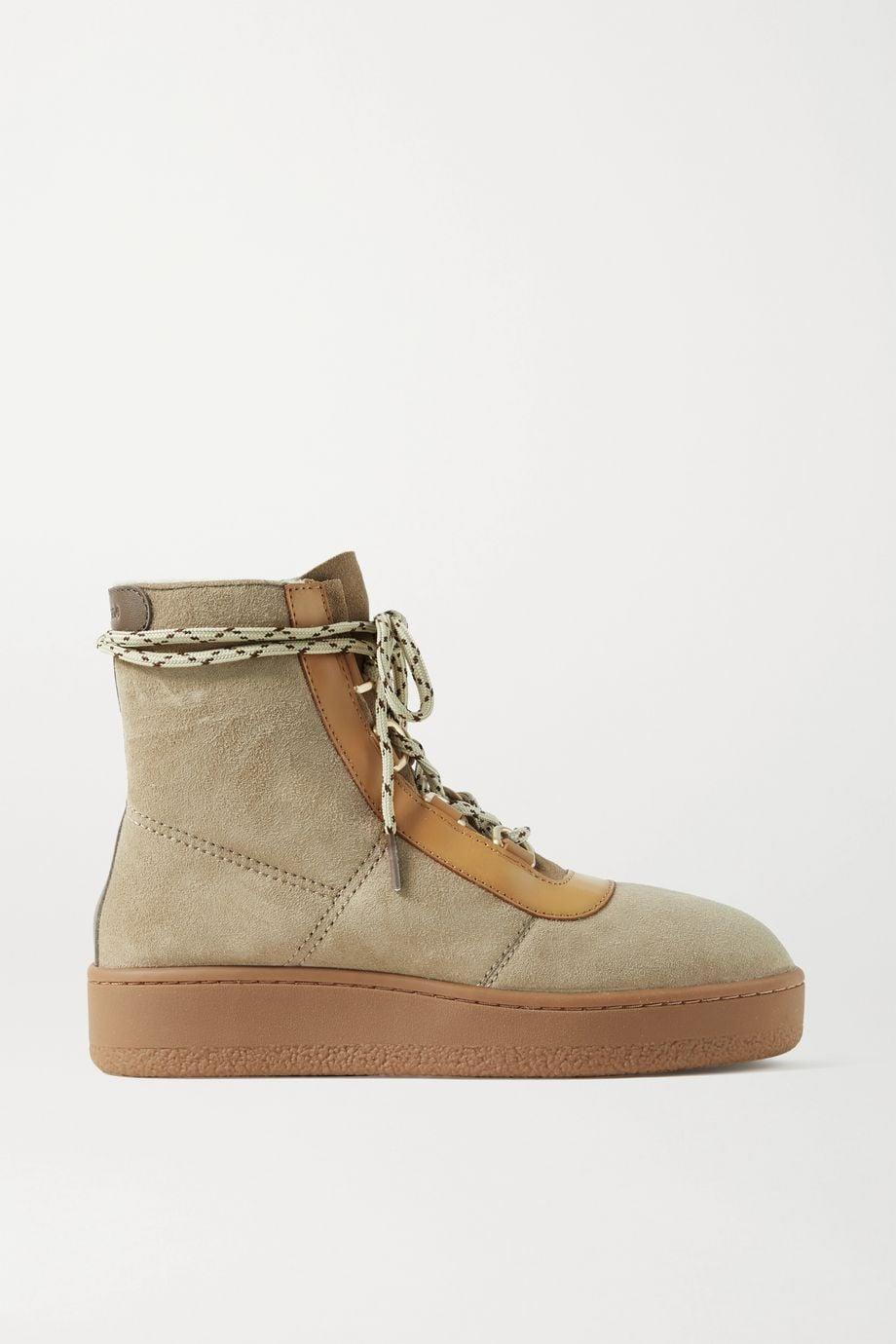 <p><span>Rag &amp; Bone Oslo Leather-Trimmed Suede Platform Ankle Boots</span> ($325)</p>