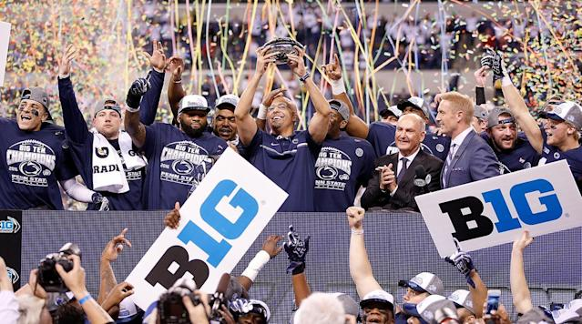 """<p><em>Sports Illustrated is celebrating Penn State's last quarter-century of Big Ten play with a special issue, honoring the school's greatest players and games from the era. <a href=""""https://backissues.si.com/storefront/2017/penn-state-25-years-in-the-big-10/prodSI20171020SPEC.html"""" rel=""""nofollow noopener"""" target=""""_blank"""" data-ylk=""""slk:You can get your copy at newsstands now, or order it online here."""" class=""""link rapid-noclick-resp"""">You can get your copy at newsstands now, or order it online here.</a></em></p><p>The new era began with a secret dinner.</p><p>In the spring of 1989, a delegation from Penn State, including football coach Joe Paterno, flew to Champaign, Ill., in a private plane to not draw attention. The president of the University of Illinois, Stanley Ikenberry, sent a driver to the airport but didn't go himself to avoid being seen. Back at the President's House on campus, just a single staff member was asked to work that night.</p><p>The purpose of the dinner was to discuss the possibility of Penn State's joining the Big Ten. They didn't want anybody to know, in case it didn't work out.</p><p>At that point Penn State was competing as an independent in football, as it had done for a century, but going it alone was becoming less desirable. In 1981, Paterno had worked to establish an Eastern sports conference, but Penn State was left out in the cold as Syracuse and other basketball-centric schools joined the Big East. And, while it certainly didn't turn out this way, Paterno at the time had said he planned to retire at 65, which was just a few years off. His expected departure was another reason the university longed for the stability of a conference affiliation.</p><p>Penn State's president, Bryce Jordan, was the one who had contacted Ikenberry. As chairman of the Council of 10, the Big Ten's governing body, Ikenberry held considerable influence—and he was also a former Penn State senior vice president. """"What would you think about Penn State joining th"""