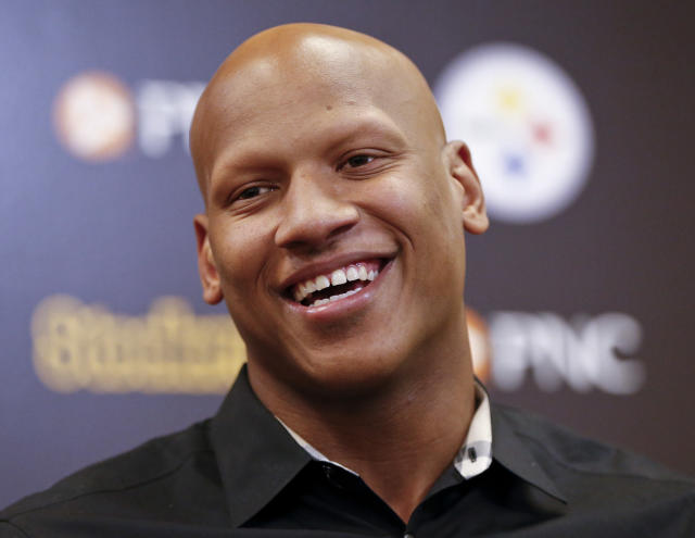 Ryan Shazier is still making progress after a devastating spine injury. (AP Photo)