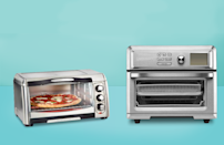 """<p>More people have cooking at home this past year, and according to appliance brand Hamilton Beach, almost all new oven developments have included an air fryer setting. So what's the difference between <a href=""""https://www.goodhousekeeping.com/appliances/a33403402/air-fryer-vs-convection-oven/"""" rel=""""nofollow noopener"""" target=""""_blank"""" data-ylk=""""slk:air frying and convection cooking"""" class=""""link rapid-noclick-resp"""">air frying and convection cooking</a>? <a href=""""https://www.goodhousekeeping.com/appliances/a24630295/best-air-fryers-reviews/"""" rel=""""nofollow noopener"""" target=""""_blank"""" data-ylk=""""slk:Air fryers"""" class=""""link rapid-noclick-resp"""">Air fryers</a> and convection ovens both cook food faster than traditional ovens by relying on a fan to circulate hot air, but air fryers make food more crispy and work even quicker than convection ovens, thanks to the placement and size of their fans, allowing you to <a href=""""https://www.goodhousekeeping.com/food-recipes/g4992/chicken-wings-recipes/"""" rel=""""nofollow noopener"""" target=""""_blank"""" data-ylk=""""slk:make chicken wings"""" class=""""link rapid-noclick-resp"""">make chicken wings</a> in about 20 minutes and<a href=""""https://www.goodhousekeeping.com/food-recipes/dessert/a34206857/air-fryer-donuts-recipe/"""" rel=""""nofollow noopener"""" target=""""_blank"""" data-ylk=""""slk:&quot;doughnuts&quot;"""" class=""""link rapid-noclick-resp""""> """"doughnuts""""</a> in less than ten!</p><p>In the Good Housekeeping Institute <a href=""""https://www.goodhousekeeping.com/institute/about-the-institute/a19748212/good-housekeeping-institute-product-reviews/"""" rel=""""nofollow noopener"""" target=""""_blank"""" data-ylk=""""slk:Kitchen Appliances Lab"""" class=""""link rapid-noclick-resp"""">Kitchen Appliances Lab</a>, we tested 15 different air fryer toaster ovens for their ability to air fry, bake, broil, and, of course, toast. That means we air fried more than 15 pounds of wings and frozen fries to see how well they crisped up, as well as how quickly and evenly. We, of course, didn't stop there. In each one, we"""
