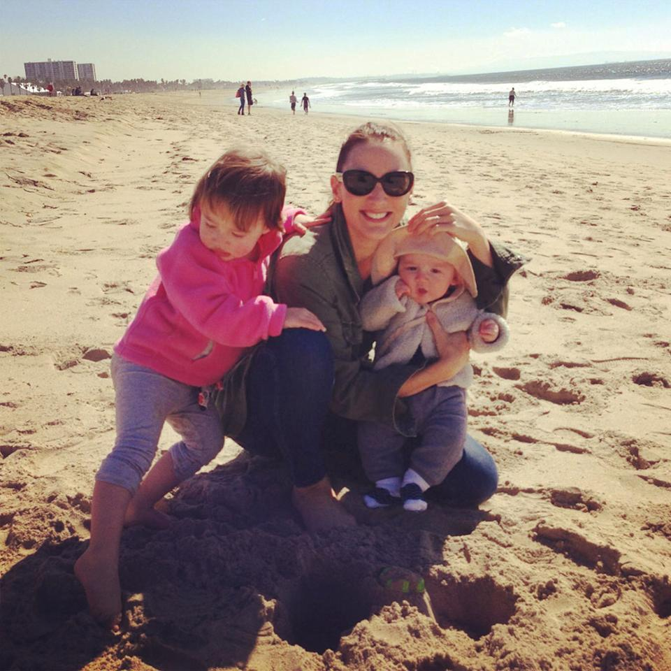 "<a href=""https://www.facebook.com/realbreeturner"" target=""_blank"">BREE TURNER with kids Stella and Deen </a><br />We often bring both the kids into our bed in the middle of the night when no one is sleeping well. Just the other morning, my daughter woke up and saw Dean sleeping right next to her. She sleepily squealed and put her forehead right to his. They slept like that for the next few hours. Forehead to forehead. It was the purest moment of sibling love. Justin and I simply beamed at each other and thought nothing is better than this."