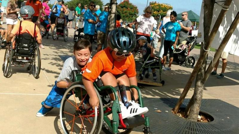 8-year-old boy raises over $6K to buy best friend new wheelchair