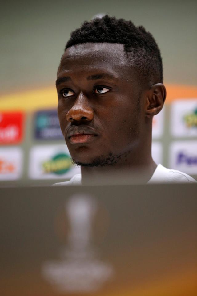 Soccer Football - Europa League - RB Salzburg Press Conference - Orange Velodrome, Marseille, France - April 25, 2018 RB Salzburg's Diadie Samassekou during the press conference REUTERS/Jean-Paul Pelissier