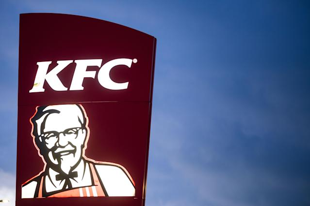 A KFC restaurant sign from a different location. (Matthew Horwood/Getty Images)
