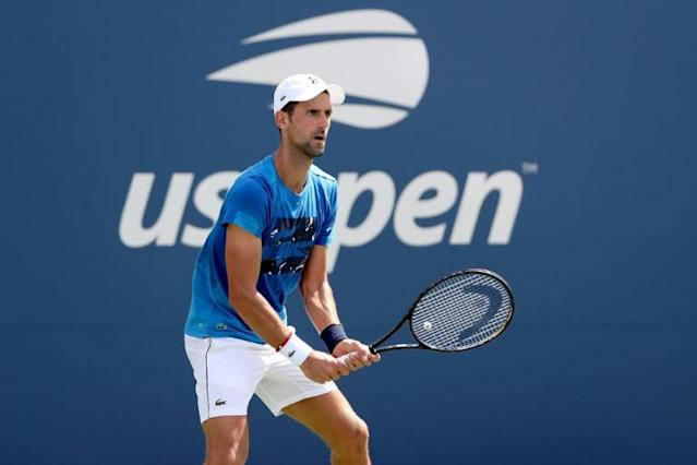 Novak Djokovic is seeking a fourth US Open title in New York (AFP Photo/MATTHEW STOCKMAN)
