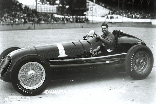 """Horn's beautiful Maserati would lead for 74 of the 200 laps in 1948, but he'd have to slacken his hold on the race when sand messed with the rod bearings. <span class=""""copyright"""">Indianapolis Motor Speedway</span>"""