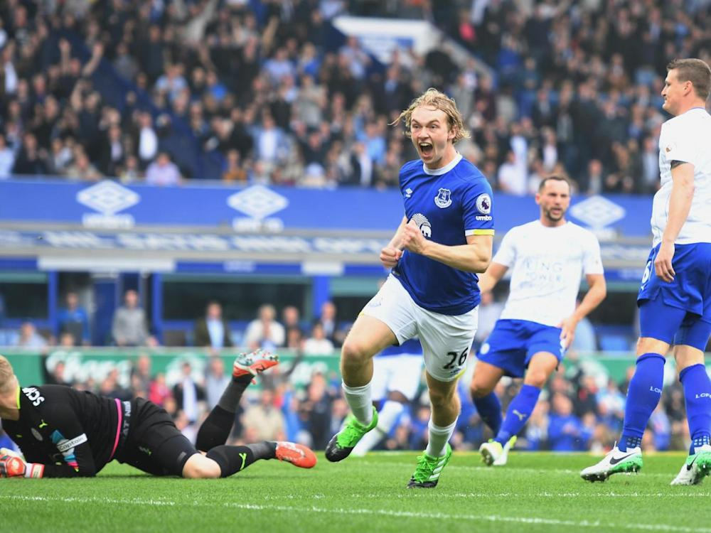 Davies gave Everton the lead within a minute (Getty)