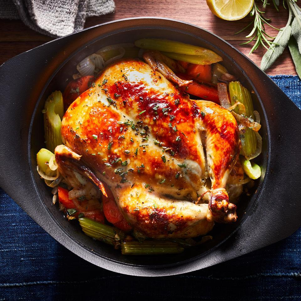 <p>This roasted chicken recipe may be the most useful recipe you'll ever find. It's a meal on its own or the start of any recipe that calls for cooked chicken--perfect for meal-prepping lunches or dinners to have throughout the week.</p>