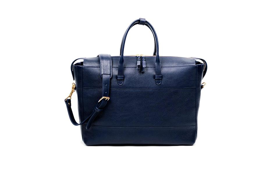 """<p>The days of briefcases and folios have given way to a more relaxed breed of business bag: the tote. Anything from New England's Lotuff is a wise investment, but this pocket-happy, zip-top tote is like the Optimus Prime of carryalls.</p> <p><em>Lotuff 929 briefcase</em></p> $800, Lotuff. <a href=""""https://lotuffleather.com/collections/briefcases/products/the-929-briefcase?variant=29998150549592"""" rel=""""nofollow noopener"""" target=""""_blank"""" data-ylk=""""slk:Get it now!"""" class=""""link rapid-noclick-resp"""">Get it now!</a>"""
