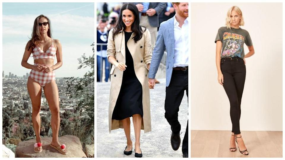 <p>Meghan Markle has thrust sustainable fashion into the spotlight after rocking a pair of black pumps on a Melbourne beach that were made from recycled plastic bottles fished straight from the ocean.<br>But while the former actress has decided to raise awareness about the damage being done to the environment through her well thought out clothing choices, the debate around 'disposable fashion' has been happening for years.<br>In fact, there's heaps of designers who are making stunning shoes, dresses and even swimwear from trashed plastic bottles.<br>Check out our faves here. </p>