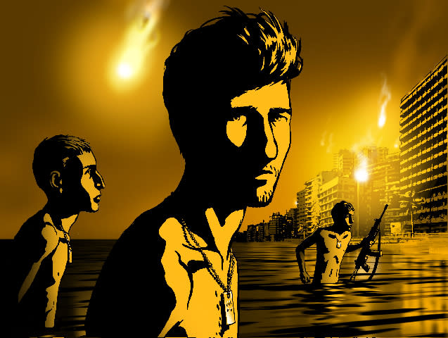 "FILE - In this file photo of an image released by Sony Pictures Classics, a scene is shown from the animated film, ""Waltz with Bashir. (AP Photo/Sony Pictures Classics, File) ** NO SALES **"