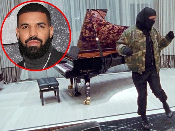 "Drake showed off his penthouse in the ""Tootsie Slide"" video."