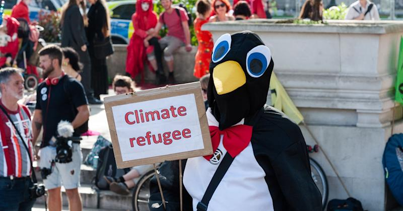 Extinction Rebellion activist in London, England in April. In addition to protest, many people want to vote on climate with their investments.