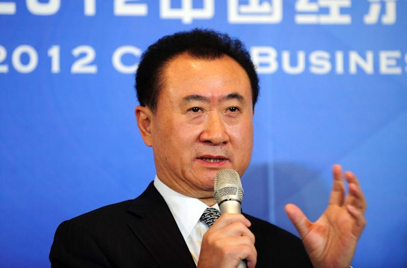 Wanda Chairman Wang Jianlin, a diehard football fan, says his company is delighted at their deal with Atletico Madrid (AFP Photo/)