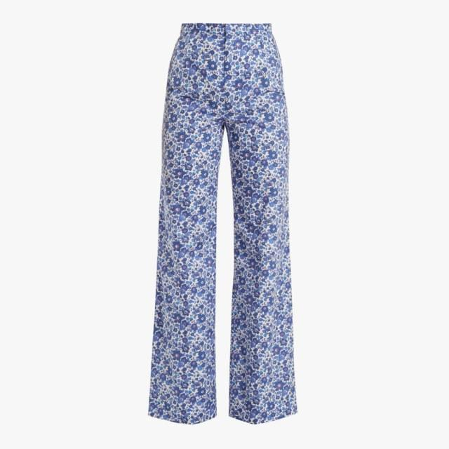 The Vampire's Wife wide-leg cotton trousers in liberty print, $315, matchesfashion.com