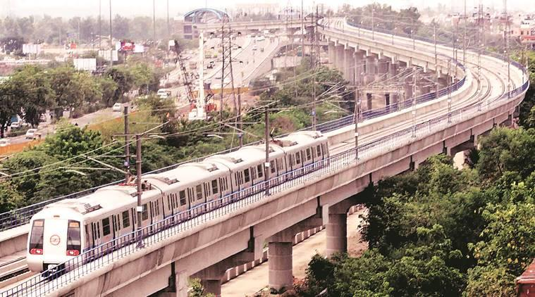delhi metro, noida, greater noida, aqua line, noida city centre, noida electronic city, delhi metro blue line, dmrc, indian express news