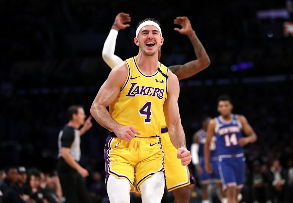 "Los Angeles Lakers guard Alex Caruso has earned the ""GOAT"" nickname from LeBron James."