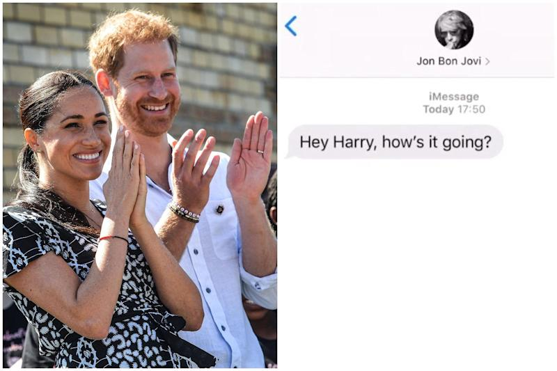 The texts were shared on the Sussex Royal Instagram