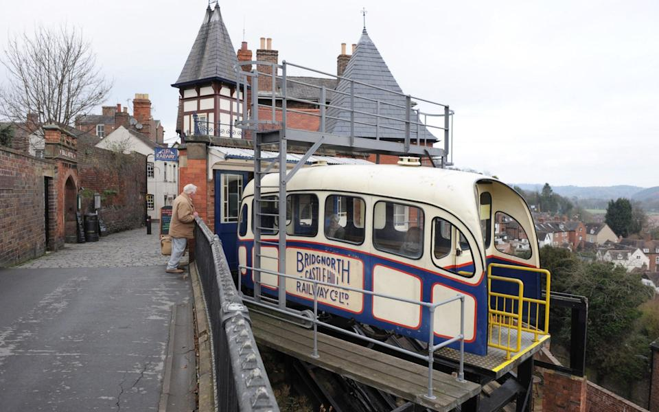 Pic shows the cliff railway in the town of Bridgnorth, Shropshire - Jay Williams