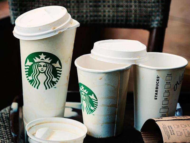 The coffee outlet is trying to cut down on the enormous quantity of disposable coffee cups discarded in Britain every year: Getty