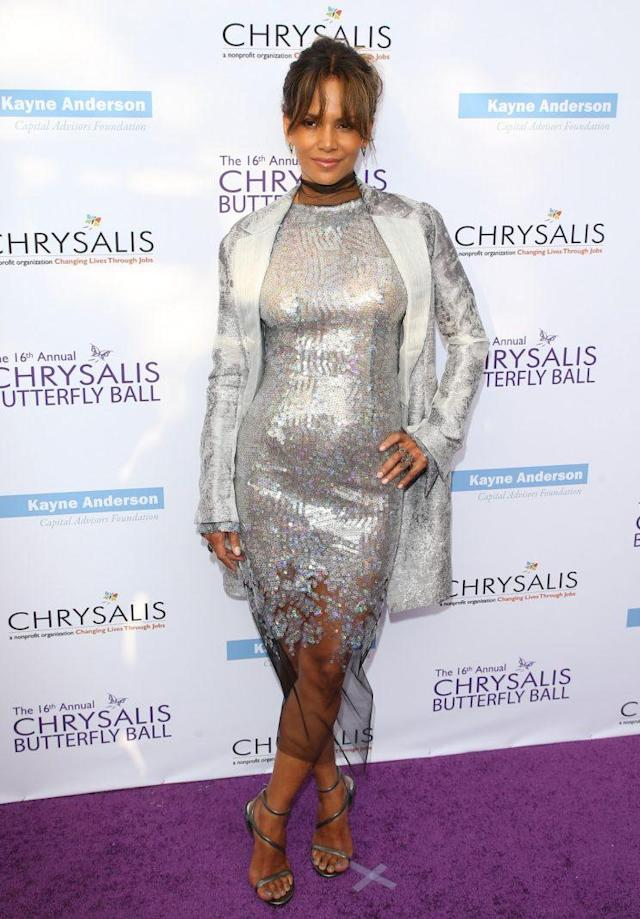 Halle Berry at the 2017 Chrysalis Butterfly Ball in Los Angeles. (Photo: Getty Images)