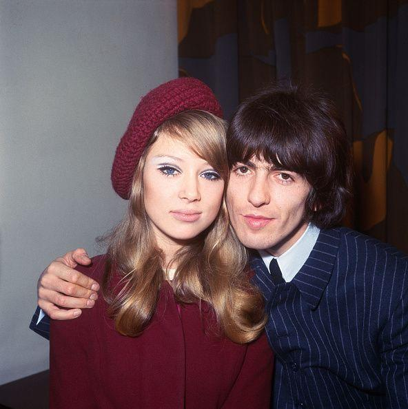 """<p>Pattie Boyd, who was married to George Harrison from 1966 to 1977, was the inspiration for several Beatles songs penned by George. In addition to """"<a href=""""https://www.beatlesbible.com/people/pattie-boyd/3/"""" rel=""""nofollow noopener"""" target=""""_blank"""" data-ylk=""""slk:Something"""" class=""""link rapid-noclick-resp"""">Something</a>,"""" she's also reportedly the muse for the songs """"<a href=""""https://www.songfacts.com/facts/the-beatles/i-need-you"""" rel=""""nofollow noopener"""" target=""""_blank"""" data-ylk=""""slk:I Need You"""" class=""""link rapid-noclick-resp"""">I Need You</a>"""" and """"<a href=""""https://www.the-paulmccartney-project.com/song/for-your-blue/"""" rel=""""nofollow noopener"""" target=""""_blank"""" data-ylk=""""slk:For You Blue"""" class=""""link rapid-noclick-resp"""">For You Blue</a>."""" </p>"""