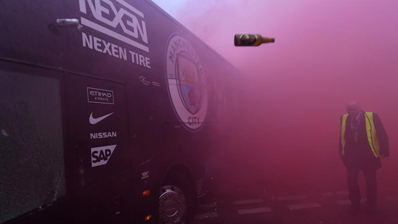Guardiola calls on police to ensure no repeat of Manchester City bus attack at Anfield