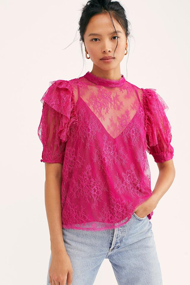 """<p>Pair this <a href=""""https://www.popsugar.com/buy/Secret-Admirer-Blouse-478085?p_name=Secret%20Admirer%20Blouse&retailer=freepeople.com&pid=478085&price=98&evar1=fab%3Aus&evar9=46482783&list1=shopping%2Cfall%20fashion%2Cfree%20people&prop13=mobile&pdata=1"""" rel=""""nofollow"""" data-shoppable-link=""""1"""" target=""""_blank"""" class=""""ga-track"""" data-ga-category=""""Related"""" data-ga-label=""""https://www.freepeople.com/shop/secret-admirer-blouse/?category=whats-new&amp;color=066"""" data-ga-action=""""In-Line Links"""">Secret Admirer Blouse</a> ($98) with jeans.</p>"""