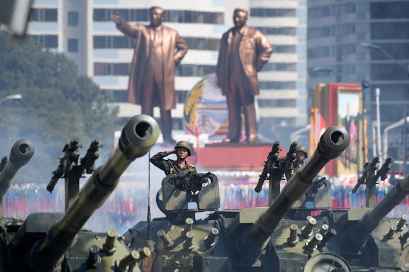 North Korea holds regular military displays, showcasing its huge standing army (AFP Photo/Ed JONES)
