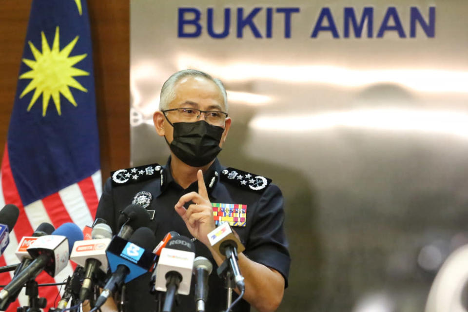 IGP Datuk Seri Acryl Sani Abdullah Sani said there should not be cause for unnecessary alarm as the police will ensure that national security remains at a safe level as well as increase monitoring to ensure the wellbeing of the people is maintained. — Picture by Choo Choy May