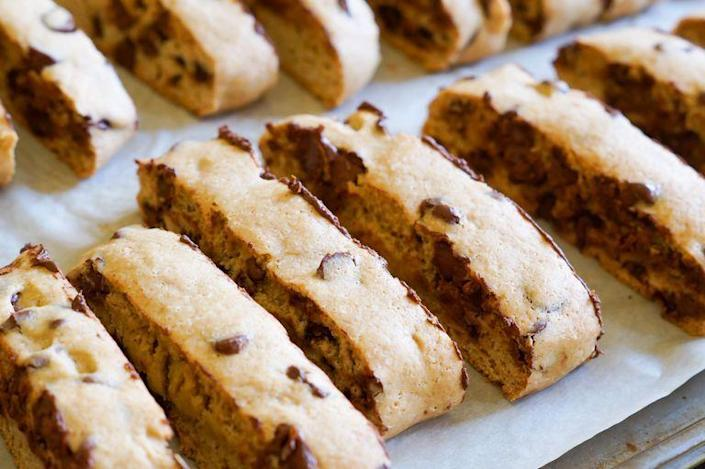 """<p>Coffee lovers like Ree Drummond will love dunking these crunchy Italian cookies in a warm cup of joe. In fact, this cookie even has a hint of espresso powder right in the dough! </p><p><a href=""""https://www.thepioneerwoman.com/food-cooking/recipes/a90139/how-to-make-biscotti/"""" rel=""""nofollow noopener"""" target=""""_blank"""" data-ylk=""""slk:Get the recipe."""" class=""""link rapid-noclick-resp""""><strong>Get the recipe.</strong></a></p>"""