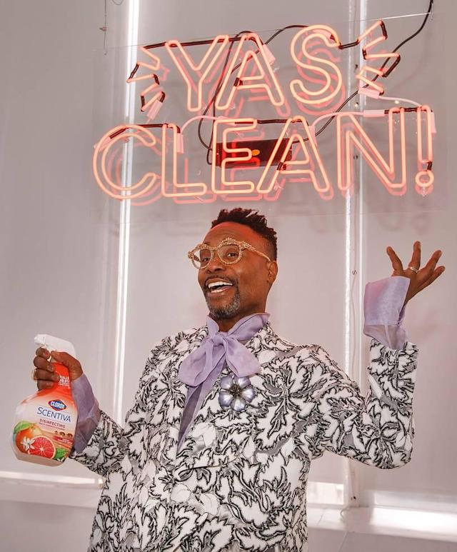 Billy Porter has partnered with Clorox Scentiva products for a spring cleaning campaign. (Photo: Jason DeCrow/Invision for Clorox/AP Images)