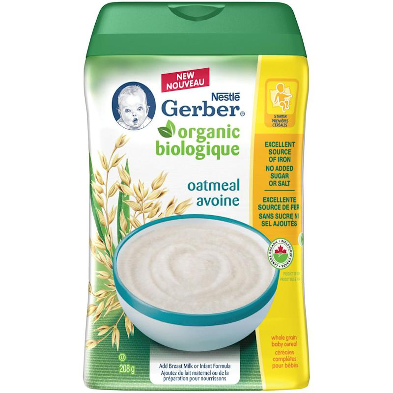 GERBER Organic Baby Cereal Oatmeal