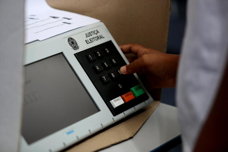 """salvador, bahia/brazil - July 31, 2018: Electronic ballot box used by the electoral justice in the elections in Brazil.""""n""""n"""