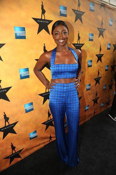 "<p>The ""How to Get Away With Murder"" actress joined the Balmain army in a cobalt blue crop trop and flared pant ensemble.</p>"