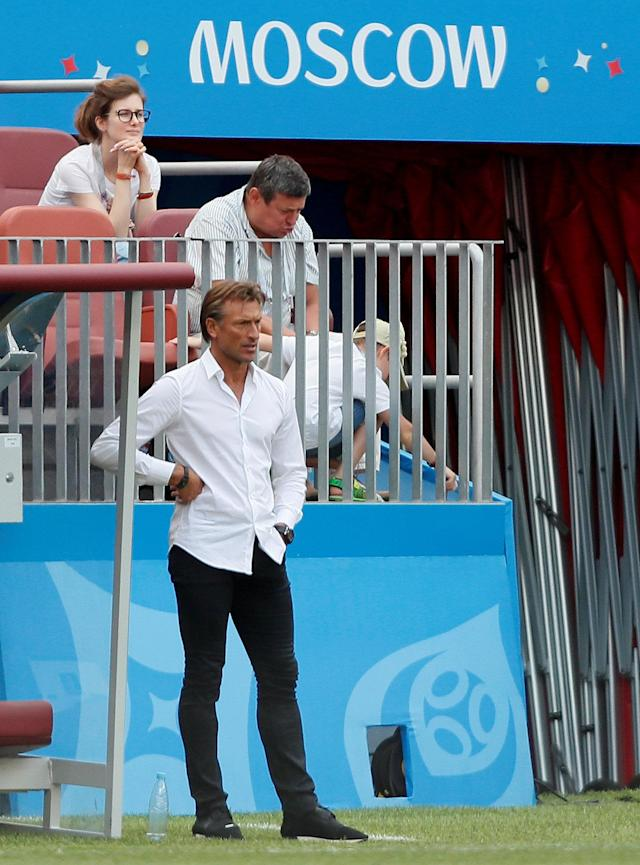 Soccer Football - World Cup - Group B - Portugal vs Morocco - Luzhniki Stadium, Moscow, Russia - June 20, 2018 Morocco coach Herve Renard during the match REUTERS/Maxim Shemetov