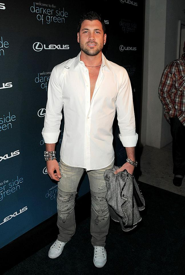 """""""Dancing With the Stars"""" pro Maksim Chmerkovskiy sported some questionable jeans at the Lexus-sponsored shindig that aimed to highlight the effects climate change has on our ecosystem. Jordan Strauss/<a href=""""http://www.wireimage.com"""" target=""""new"""">WireImage.com</a> - July 8, 2010"""