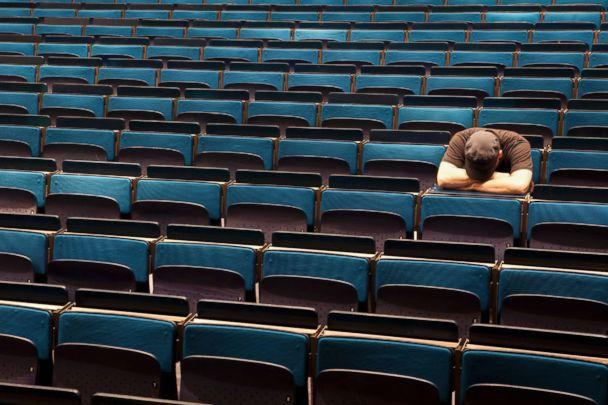 PHOTO: A stressed out student in an auditorium. (STOCK PHOTO/Getty Images)