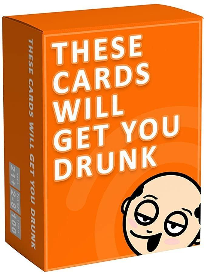 <p>Bring the fun with the <span>These Cards Will Get You Drunk</span> ($16) game. </p>