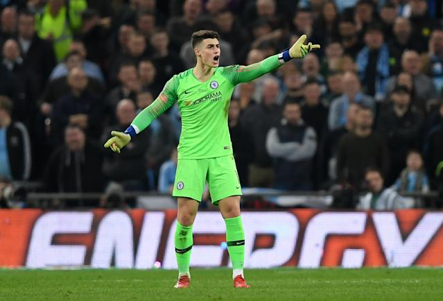 "<a class=""link rapid-noclick-resp"" href=""/soccer/teams/chelsea/"" data-ylk=""slk:Chelsea"">Chelsea</a> goalkeeper Kepa Arrizabalaga refused to be substituted, and the soccer world refused to be quiet about it. (Getty)"