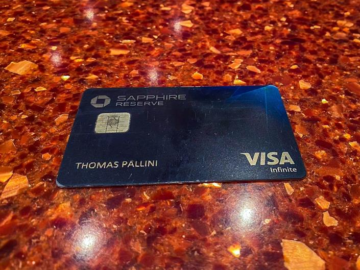 A Chase Sapphire Reserve credit card - Priority Pass Restaurant