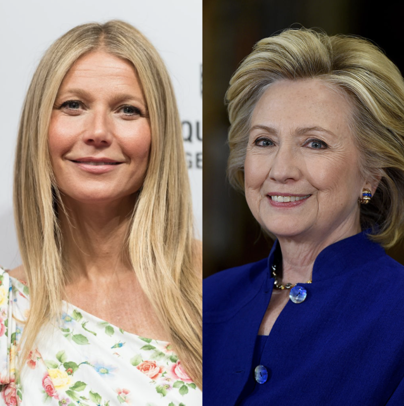 Gwyneth Paltrow and Hillary Clinton join nearly 50 other white women in using their platforms to amplify black voices. (Photo: Getty Images)