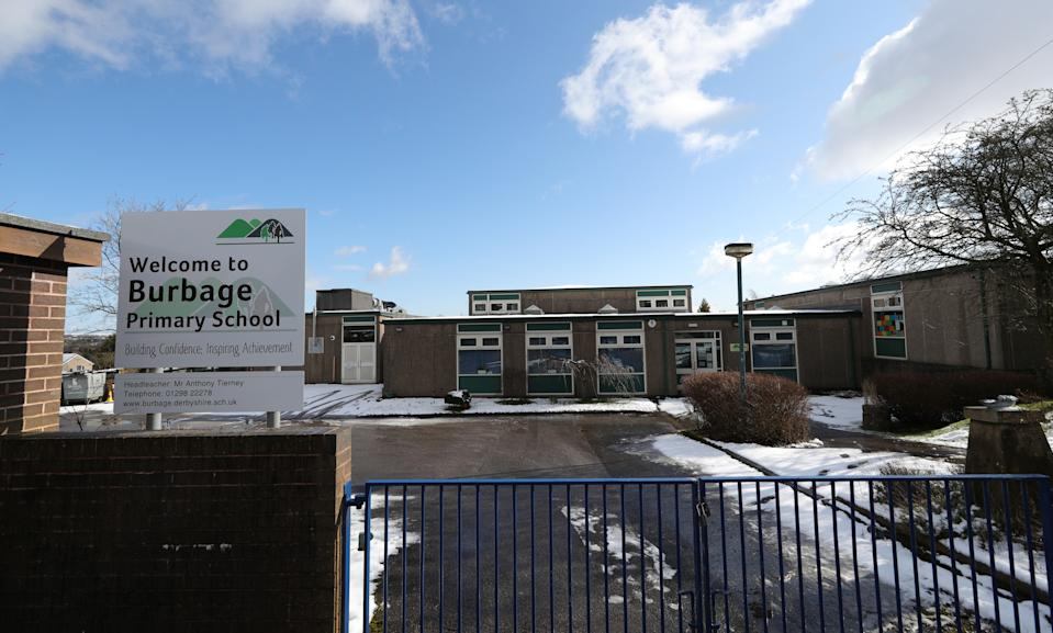 """Burbage Primary School in Leicestershire, which has been closed due to a """"confirmed case of coronavirus amongst our parent population""""."""