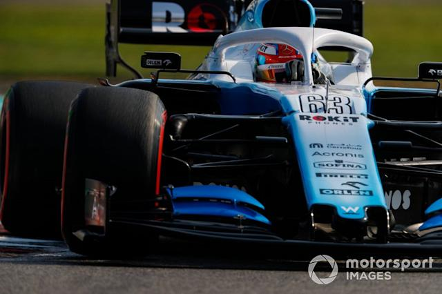 """George Russell, Williams Racing FW42 <span class=""""copyright"""">Zak Mauger / Motorsport Images</span>"""