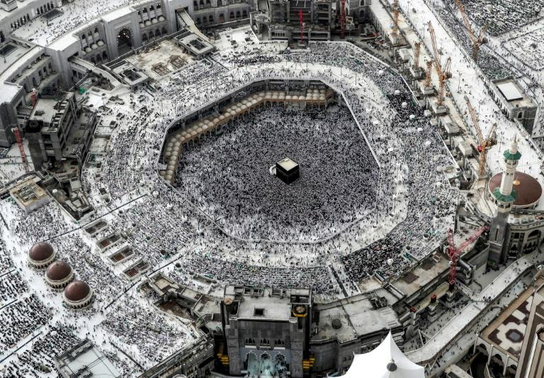 Pilgrims circle the Kaaba seven times and perform a number of sacred rites (AFP Photo/BANDAR ALDANDANI)