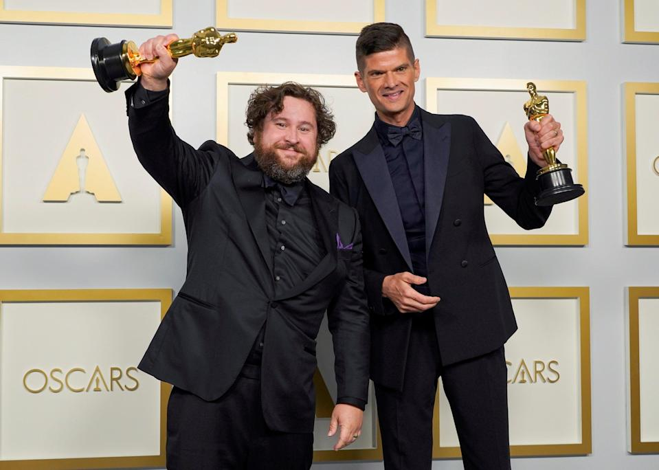 Michael Govier and Will McCormack take home the Best Animated Short Film Oscar for 'If Anything Happens I Love You'Reuters